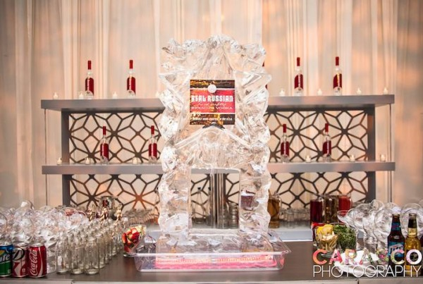 Chicago Real Russian Vodka Ice Sculpture Luge