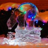 Chicago Winter Holiday Polar Bear Ice Sculpture Luge