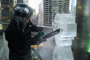 Google Live Ice Sculpture Carving Demo