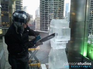 Google Android Live Ice Sculpture Carving Demo