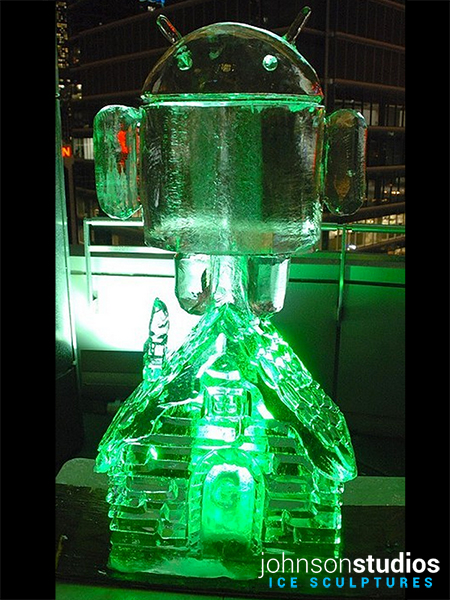Chicago Winter Holidays Google Android Ice Sculpture