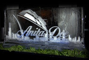 Anita Dee Yacht Charter Logo Ice Sculpture Chicago