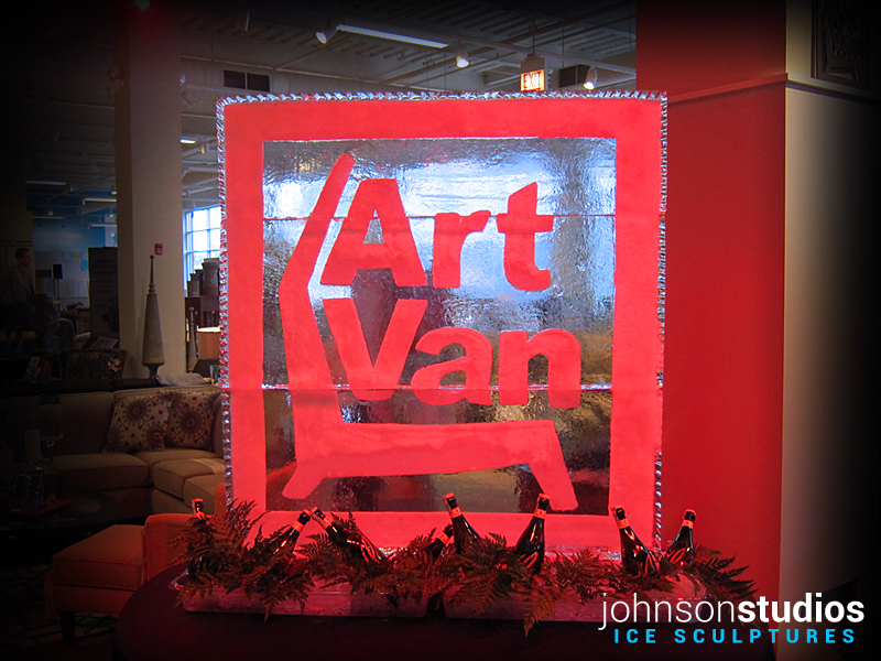 Chicago Art Van Furniture Logo Ice Sculpture