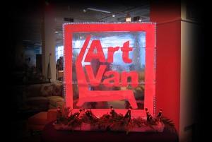 Chicago Art Van Furniture Logo Ice Sculpture