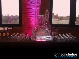 Bridal Chicago Skyline Wedding Ice Sculpture