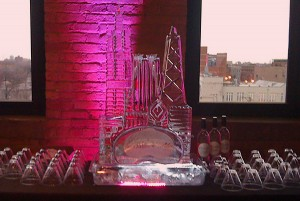 Bridal Chicago Skyline Wedding Ice Sculpture