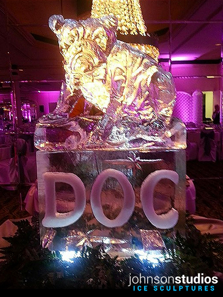 Chicago Wedding Bulldog Ice Sculpture