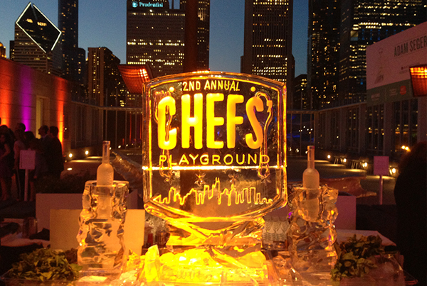 Chicago Chef Playground Ice Sculpture Event