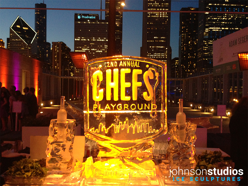Chicago Chefs Playground Event Ice Sculpture