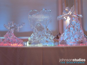 Chicago Wedding Cupid Heart Bow Arrow Ice Sculpture