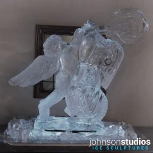 Chicago Wedding Cherub Motorcycle Ice Sculpture