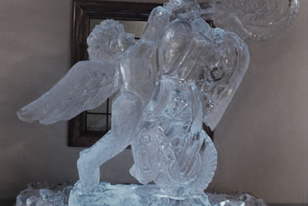 Chicago Wedding Cherub Motorcycle Ice Sculpture