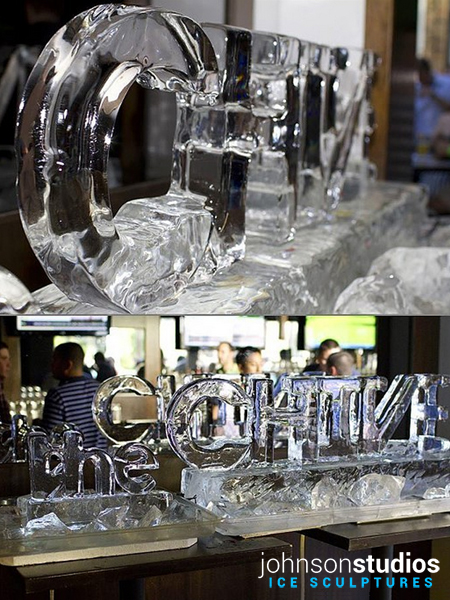 Chicago Chive Ice Sculpture Logo Display