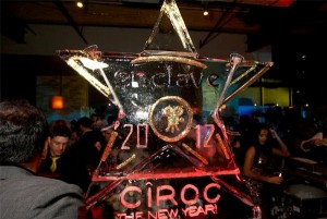 Ciroc Vodka Chicago New Year Eve Ice Sculpture Luge