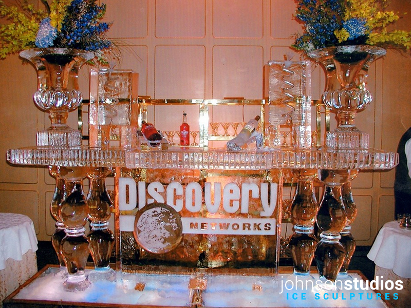 Discovery Network Logo Ice Bar Sculpture Chicago