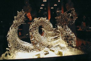 Dragon Ice Sculpture Luge Chicago Restaurant Event