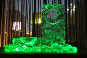 Embeya Chicago Restaurant Logo Ice Sculpture Luge