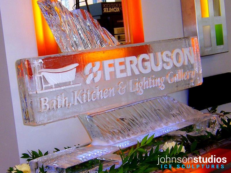Ferguson Logo Design Ice Sculpture Chicago Event