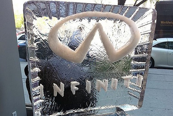 Infiniti Logo Design Ice Sculpture Chicago Event