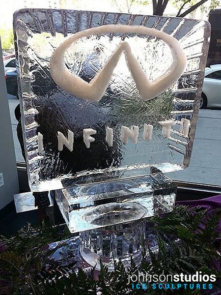 Infiniti Logo Design Ice Sculpture Chicago Event