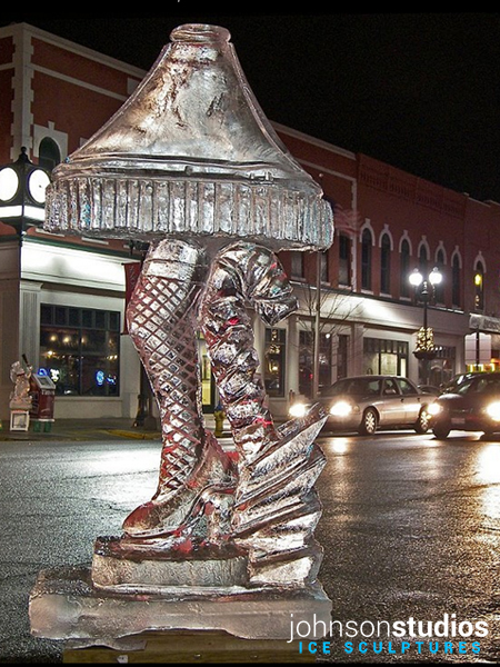 Chicago Winter Christmas Story Lamp Ice Sculpture