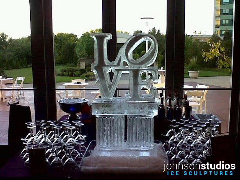 Chicago Ice Chicago Wedding Love Logo Ice
