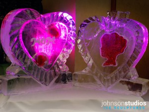 Chicago Mothers Day Holiday Hearts Ice Sculpture
