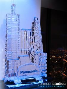 Panasonic Logo Design Chicago Skyline Ice Sculpture