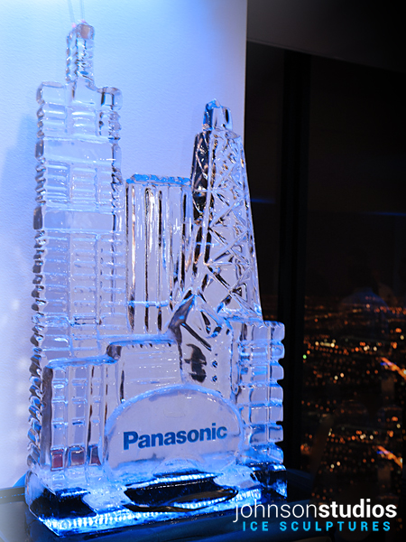 Panasonic Logo Design Chicago Skyline Ice Sculpture