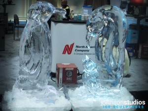 Penguins Ice Sculpture Design Chicago Expo