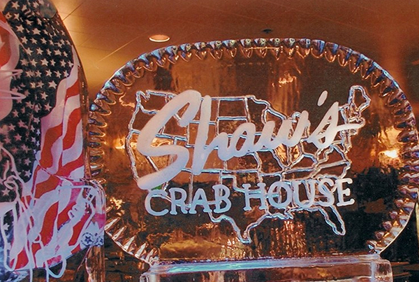 Shaws Crab House Chicago Restaurant Ice Sculpture