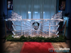 Chicago Spartan Ice Bar Sculpture Carving