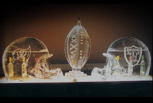 NFL Superbowl Football Raiders Pirates Ice Sculpture