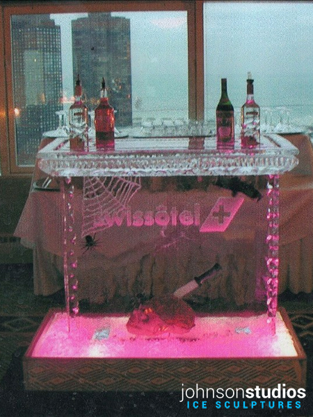 Chicago Halloween Holiday Swissotel Ice Sculpture Bar