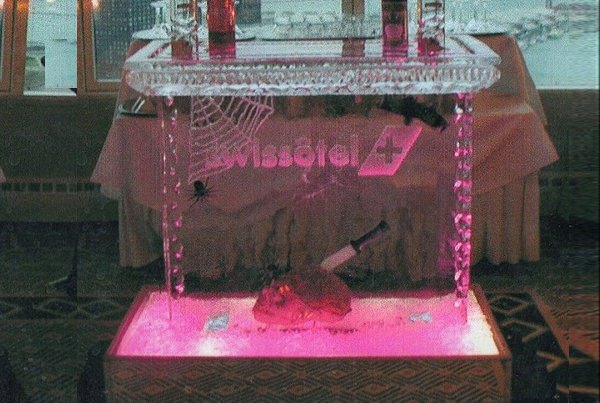 Chicago Halloween Holiday Swissotel Ice Sculpture Bar