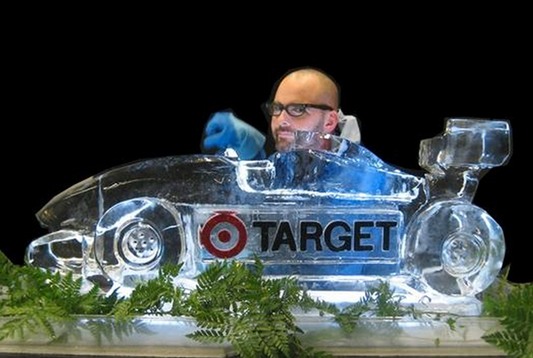 Target Race Car Logo Design Chicago Ice Sculpture