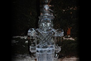 Chicago Christmas Holiday Toy Soldier Ice Sculpture