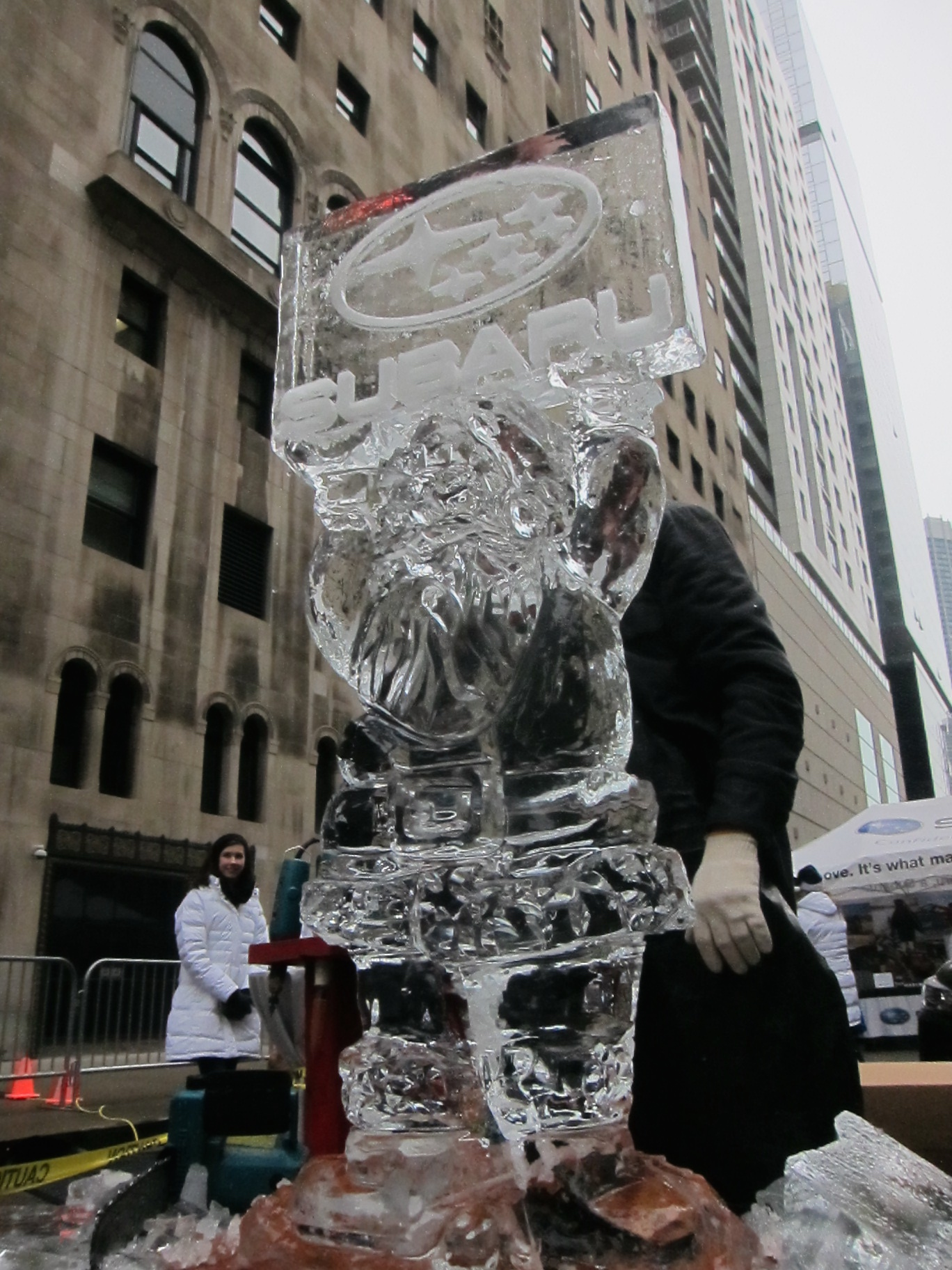 Subaru Live Ice Sculpture Demonstration